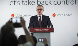 Michael Gove giving a Vote Leave speech this morning.