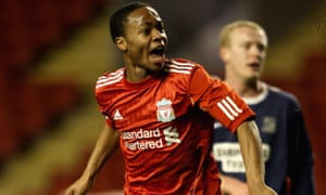 Raheem Sterling, seen here scoring for Liverpool in an FA Youth Cup in 2011, is one of England's most talented players.