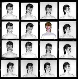 David Bowie »Aladdin Sane« (Contact Sheet) 1973