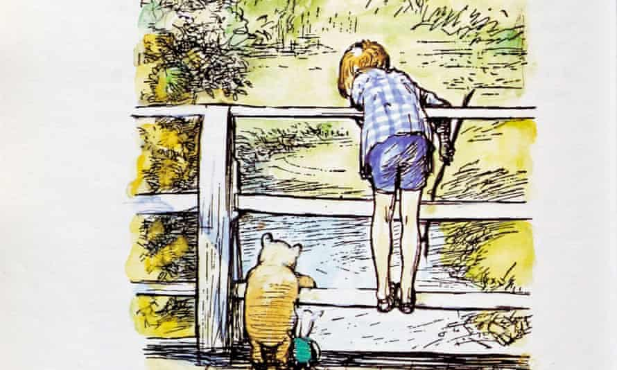 An EH Shepard illustration for Winnie the Pooh by AA Milne.