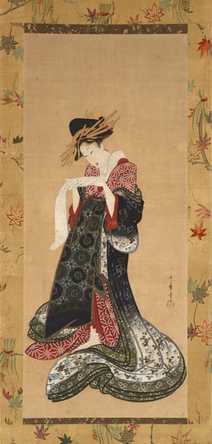 Kitagawa Utamaro Courtesan Reading a Letter 1805 - 6