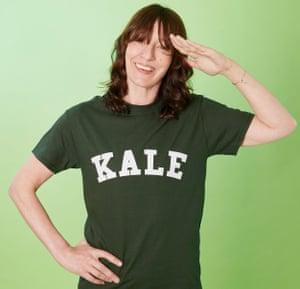 Zoe Williams wearing kale T-shirt