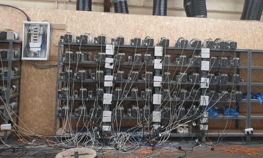 The bitcoin mine found in the West Midlands