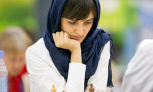 Mitra Hejazipour, a Woman Grandmaster Iranian chess player