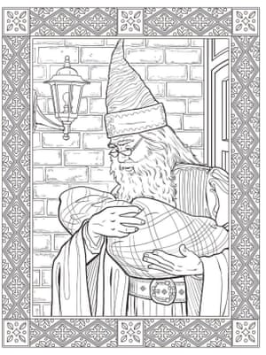A page from the new Harry Potter colouring book.