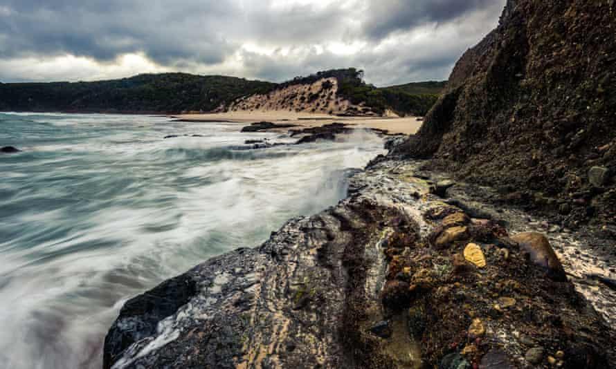 Strange and special power … Osmiridium Beach in south-west Tasmania.