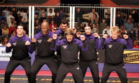 Dodgeball team film clip