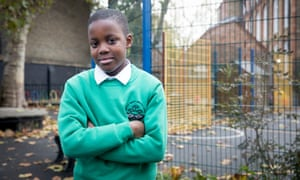 Daniel Adebeso, a pupil at Surrey Square primary school in south London.
