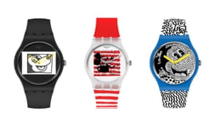 Swatch's latest collab sees Mickey Mouse reimagined using the graffiti-style artwork of the late pop artist Keith Haring in his signature colours. From, £83, swatch.com