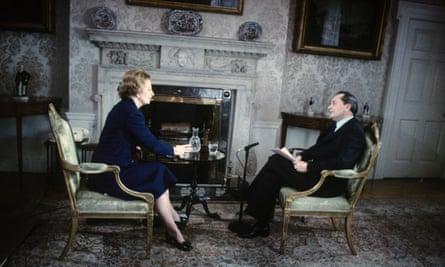 margaret Thatcher being interviewed by Brian Walden for ITV in 1979.