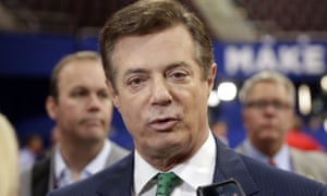 The former Trump campaign chairman Paul Manafort has been charged with money laundering.