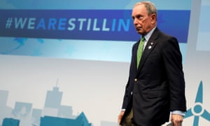 Former New York mayor Michael Bloomberg at the US Climate Action Center.