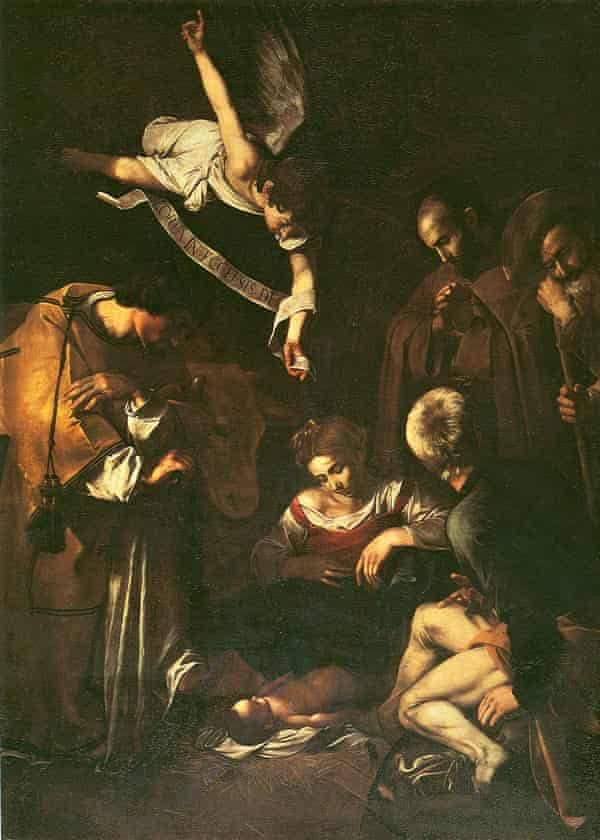 Caravaggio's Nativity with St Francis and St Lawrence.