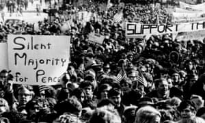 The Moratorium Day peace parade in Washington, 15 November, 1969, protesting against the Vietnam war