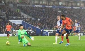 Everton's Dominic Calvert-Lewin scores their second goal.