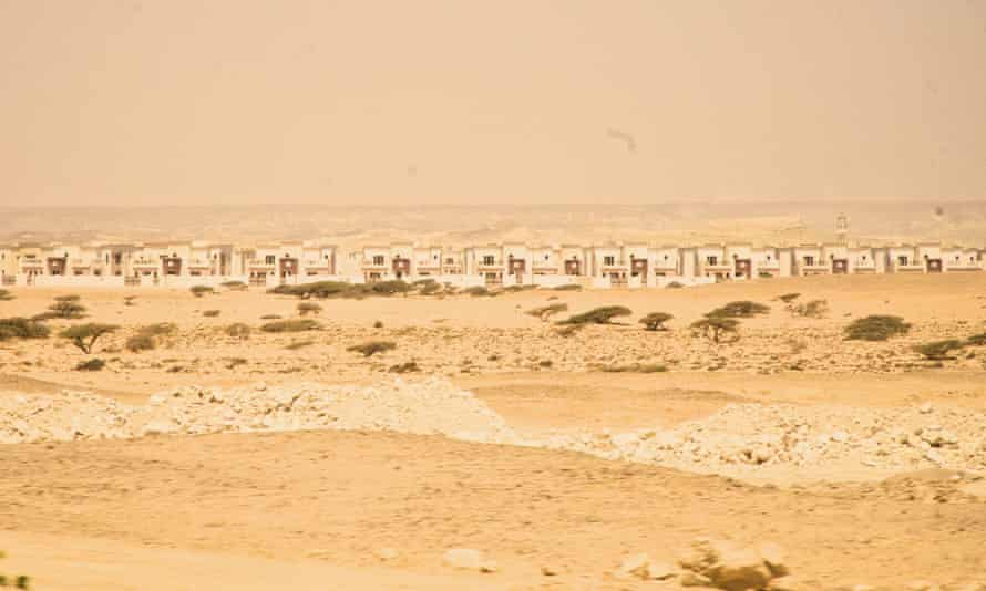 """Duqm's empty """"Bedouin Town"""" – a section of the city built for the 3,000 fishermen and semi-nomadic herders who called this place home before the bulldozers moved in."""
