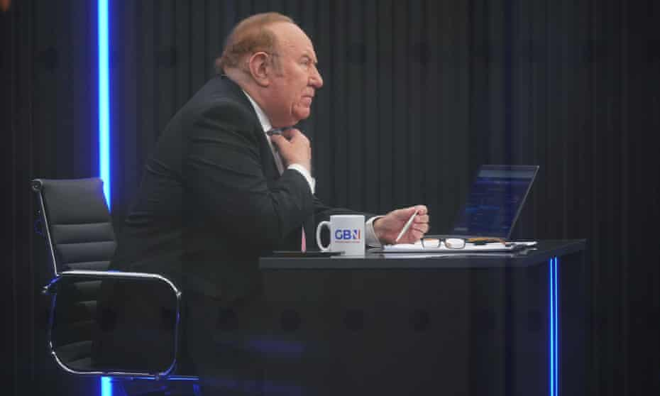 Andrew Neil on the GB News set.