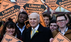 Vince Cable, who has announced that he will step down as Liberal Democrat leader in May.