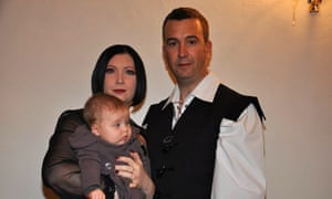 David Haines with his wife, Dragana, and daughter