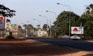 Empty streets in Banjul after Yahya Jammeh's mandate expired