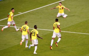 Colombia's victory over Senegal secured them top spot in Group H ahead of Japan, who are six places below Panama in the world rankings.