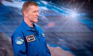 Astronaut Tim Peake on television