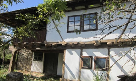 Restored and newly decorated timber frame house, Bulgaria