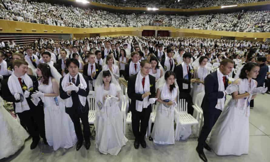 Mass wedding ceremony in Gapyeong, South Korea