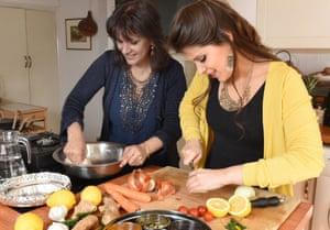 Surinder and Safia cooking