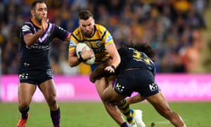 Clint Gutherson in action for the Eels