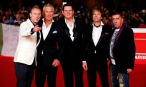 Spandau Ballet (from left to right) Gary Kemp, Martin Kemp, Tony Hadley, Steve Norman and John Keeble.