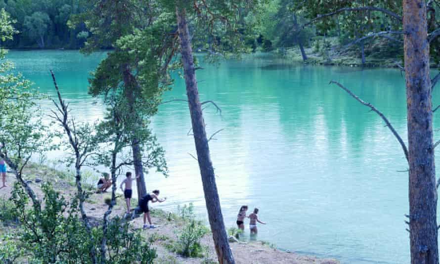 The rich blue waters of Blankttjärn Lake, Sweden