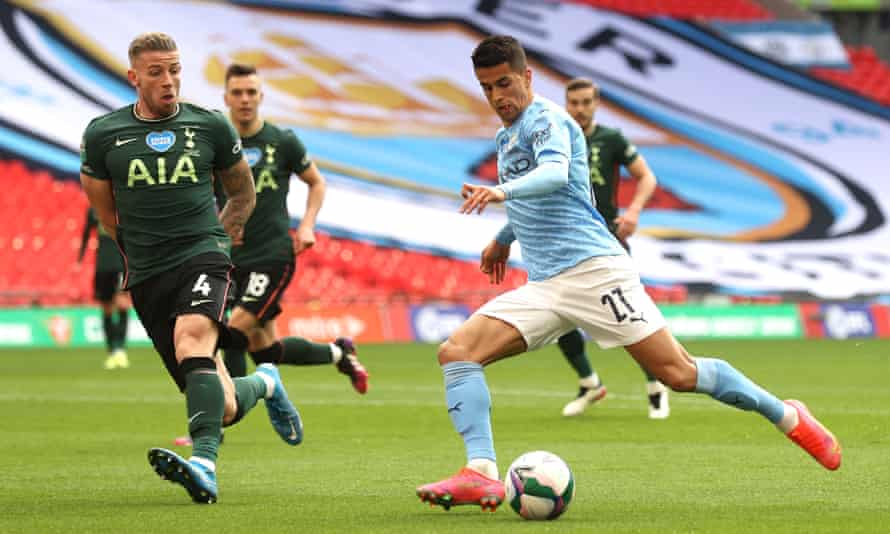 João Cancelo in action for Manchester City, for whom he has enjoyed a fine season under Pep Guardiola in the Premier League.