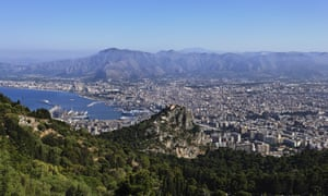 View over Palermo from Monte Pellegrino, Sicily.