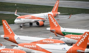 EasyJet planes at Berlin Brandenburg airport
