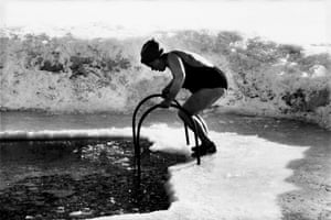 Swimmer by River Neva, Leningrad, 1982