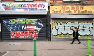 Closed shops in Bedminster, Bristol during the lockdown, 1 April 2020