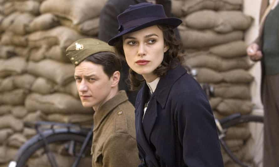 James McAvoy and Keira Knightley in Atonement, in 2007