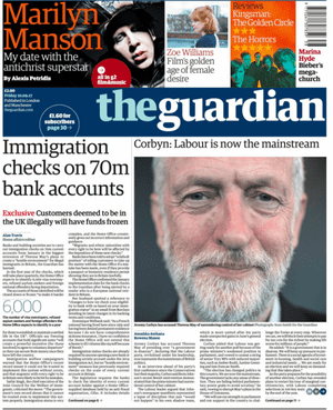 Guardian front page, Friday 22 September 2017