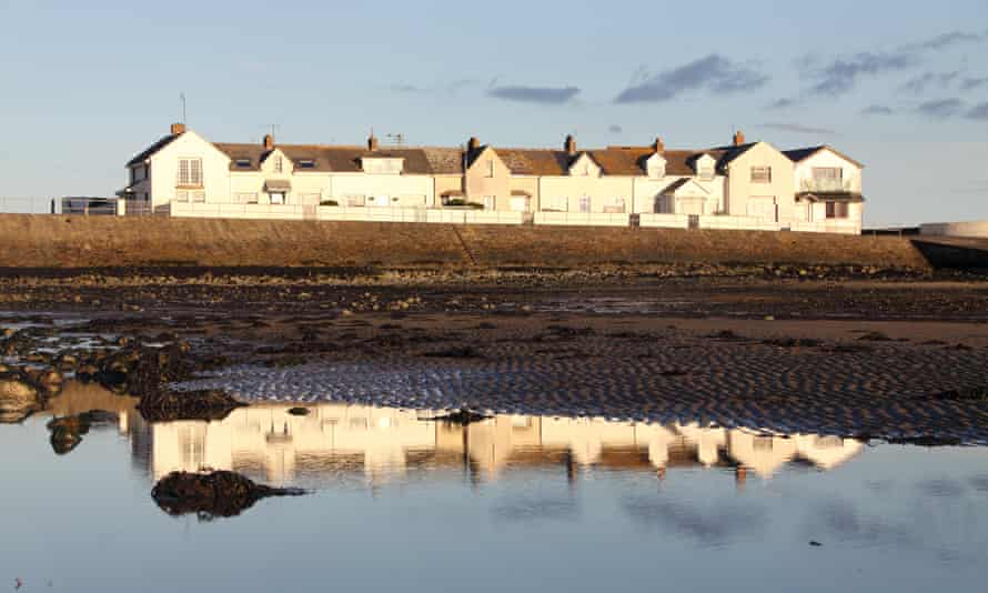 Terraced houses in Gyles' Quay, County Louth, Ireland.