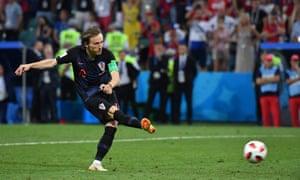 Croatia's Luka Modric converts a penalty.