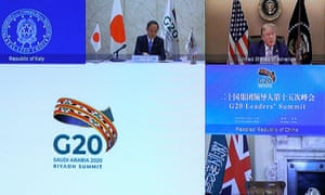 The virtual G20 meeting hosted by Saudi Arabia
