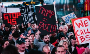 Protesters rally in New York to protect the Mueller investigation.