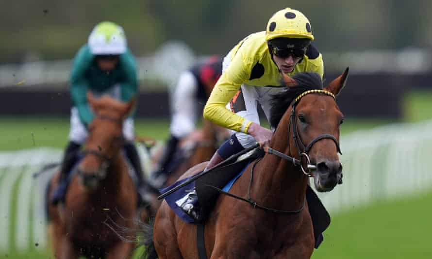 David Egan and Third Realm on their way to victory in the Lingfield Derby Trial