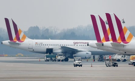 Airbus planes of the airline Germanwings at Duesseldorf airport. The manufacturer has delivered around 6,200 jets in the A320 range, one of which crashed into the Alps on Tuesday.