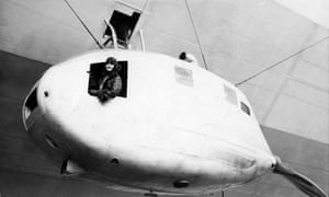 Lady Grace Drummond Hay enjoys the view from the LZ 127 Graf Zeppelin.