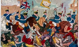 'The Massacre of Peterloo, or Britons Strike Home', 1819 (1904). Artist: George Cruikshank