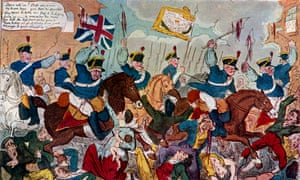 Detail from The Massacre of Peterloo, or Britons Strike Home by George Cruikshank.