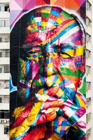 Eduardo Kobra, Oscar Niemeyer, Sao Paulo, 2013