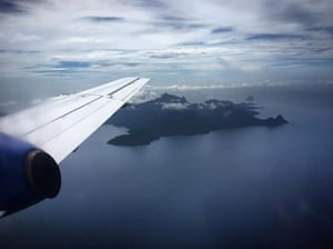 View of Príncipe from a plane. Príncipe, an island 200km off the west coast of Africa, has an area of 136 sq km and a population of 6,000. But it, and big sister São Tomé, are the islands with the greatest number of endemic birds relative to their size. This is Africa's Galapagos.